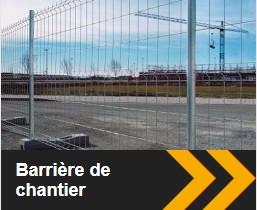 Barrière grillagée disponible chez ID Acier.